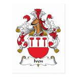 Escudo de la familia de Iven Postales