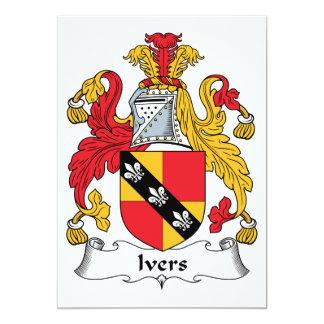 Escudo de la familia de Ivers Invitación 12,7 X 17,8 Cm