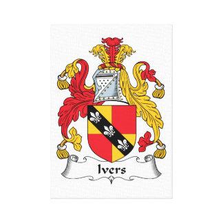 Escudo de la familia de Ivers Impresiones De Lienzo