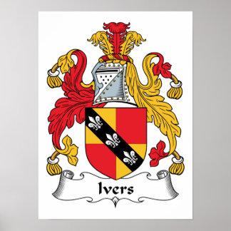 Escudo de la familia de Ivers Póster