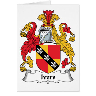 Escudo de la familia de Ivers Tarjeta De Felicitación
