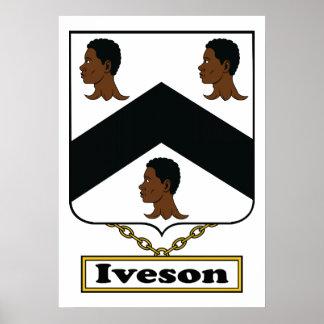 Escudo de la familia de Iveson Póster