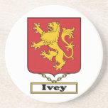 Escudo de la familia de Ivey Posavasos Personalizados