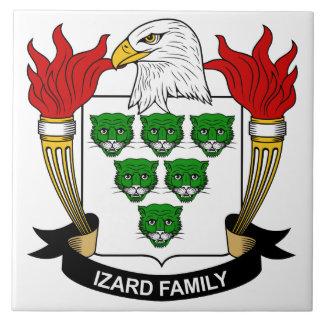 Escudo de la familia de Izard Teja Ceramica