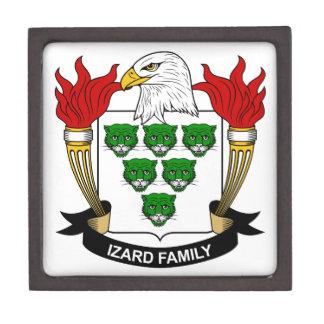 Escudo de la familia de Izard Cajas De Regalo De Calidad