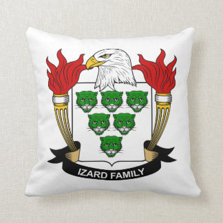 Escudo de la familia de Izard Almohada