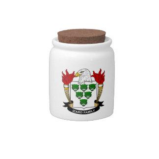 Escudo de la familia de Izard Jarra Para Caramelo
