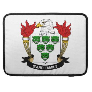 Escudo de la familia de Izard Funda Macbook Pro