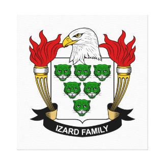 Escudo de la familia de Izard Impresion De Lienzo