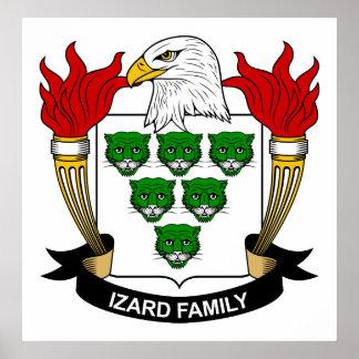 Escudo de la familia de Izard Posters