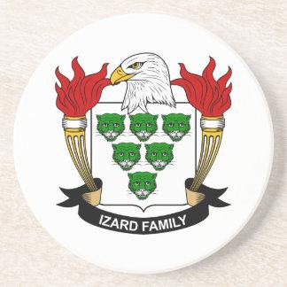 Escudo de la familia de Izard Posavasos Diseño