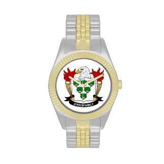 Escudo de la familia de Izard Reloj