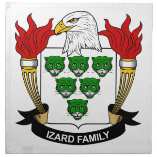 Escudo de la familia de Izard Servilletas De Papel