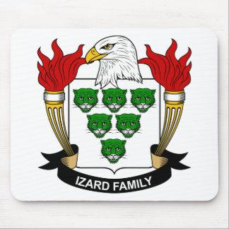 Escudo de la familia de Izard Tapetes De Ratones