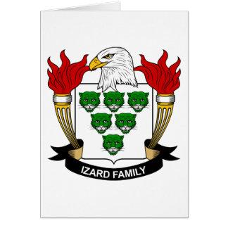 Escudo de la familia de Izard Tarjetas