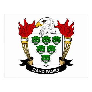 Escudo de la familia de Izard Tarjeta Postal