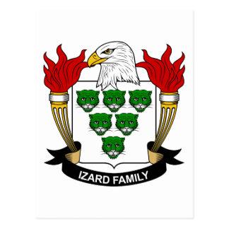Escudo de la familia de Izard Postal