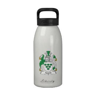 Escudo de la familia de Izzard Botella De Agua Reutilizable