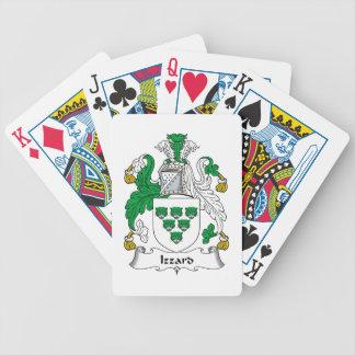 Escudo de la familia de Izzard Baraja Cartas De Poker