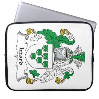 Escudo de la familia de Izzard Fundas Portátiles