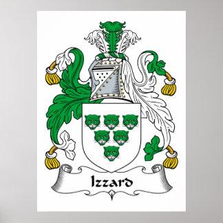 Escudo de la familia de Izzard Impresiones