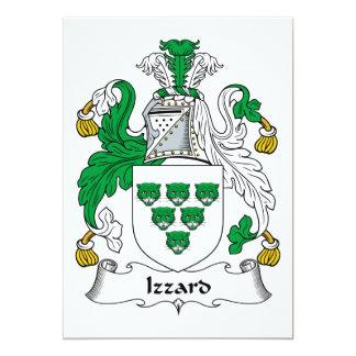 """Escudo de la familia de Izzard Invitación 5"""" X 7"""""""