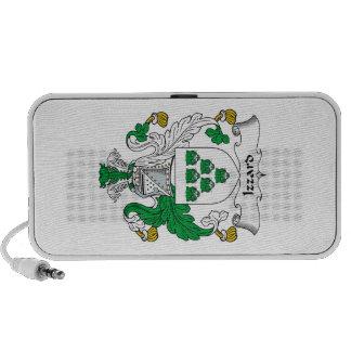 Escudo de la familia de Izzard iPod Altavoces
