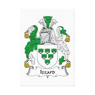 Escudo de la familia de Izzard Lona Estirada Galerias