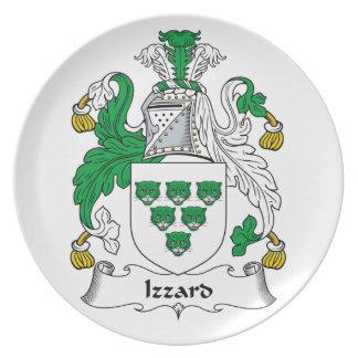 Escudo de la familia de Izzard Platos