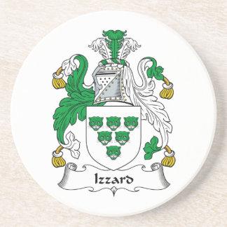 Escudo de la familia de Izzard Posavasos Para Bebidas