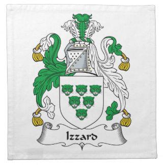 Escudo de la familia de Izzard Servilletas Imprimidas