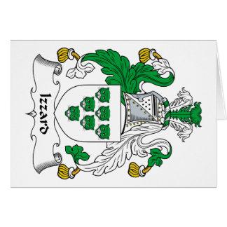 Escudo de la familia de Izzard Tarjeta De Felicitación