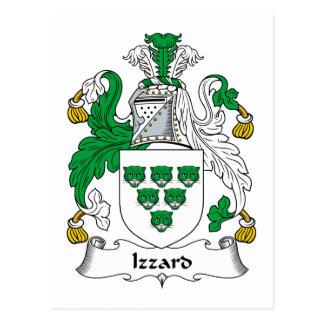 Escudo de la familia de Izzard Tarjetas Postales