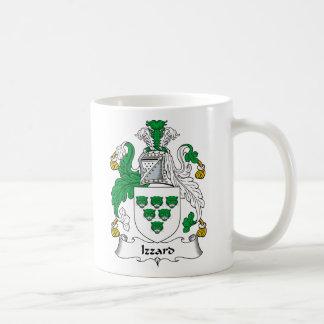 Escudo de la familia de Izzard Tazas De Café