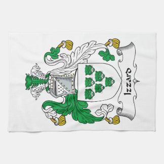 Escudo de la familia de Izzard Toallas De Mano