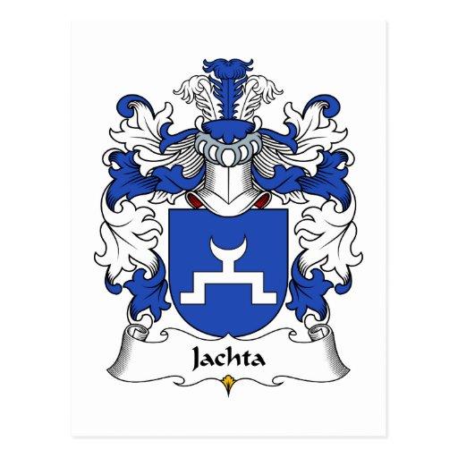 Escudo de la familia de Jachta Tarjeta Postal