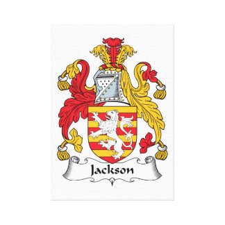 Escudo de la familia de Jackson Impresión De Lienzo