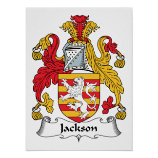 Escudo de la familia de Jackson Póster
