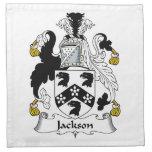 Escudo de la familia de Jackson Servilleta Imprimida
