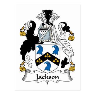 Escudo de la familia de Jackson Tarjeta Postal
