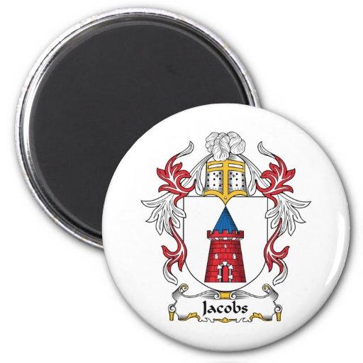 Escudo de la familia de Jacobs Imán Redondo 5 Cm