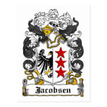 Escudo de la familia de Jacobsen Postal
