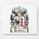 Escudo de la familia de Jacobsen Tapete De Raton