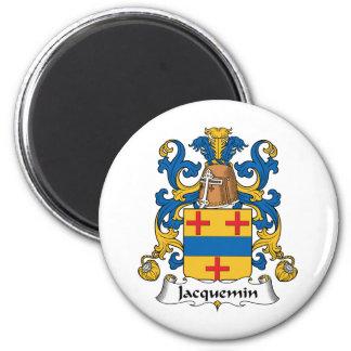 Escudo de la familia de Jacquemin Imán Redondo 5 Cm