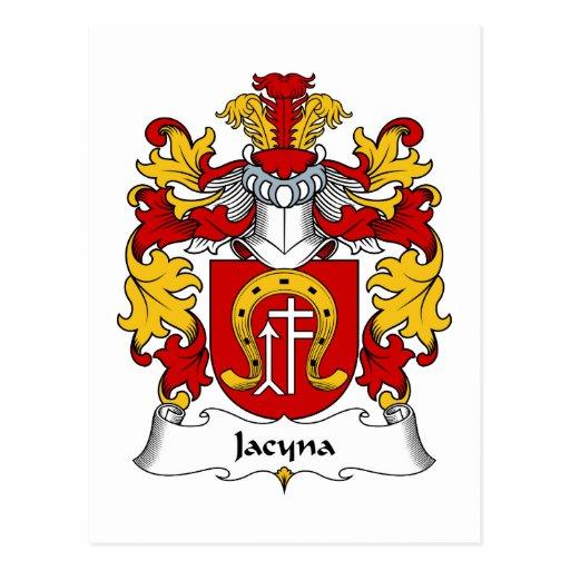 Escudo de la familia de Jacyna Tarjeta Postal