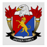 Escudo de la familia de Jaeger Impresiones