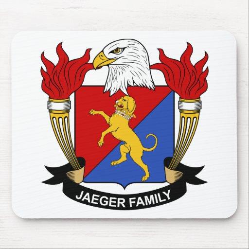 Escudo de la familia de Jaeger Tapetes De Ratón