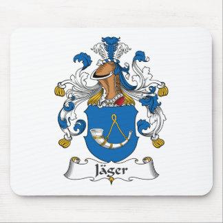 Escudo de la familia de Jager Alfombrillas De Ratones