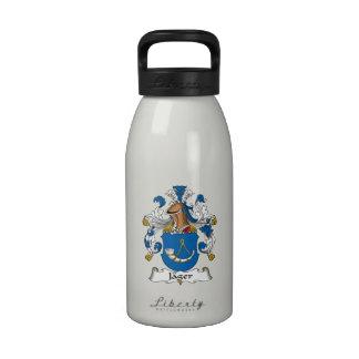 Escudo de la familia de Jager Botellas De Beber