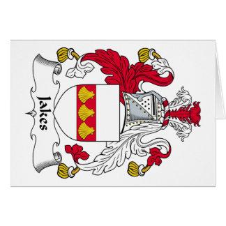 Escudo de la familia de Jakes Tarjeta De Felicitación